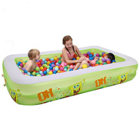 Brand New 350x170x66cm Extra Large Children and Family Swimming Pool Inflatable Big Swimming Play/Paddling Pool For 8 12 Person