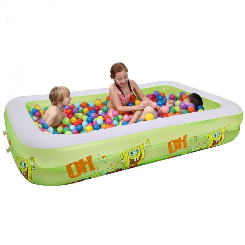 Tout nouveau 350x170x66 cm Extra grand enfants et famille piscine gonflable grand jeu de natation/pataugeoire pour 8-12 personnes