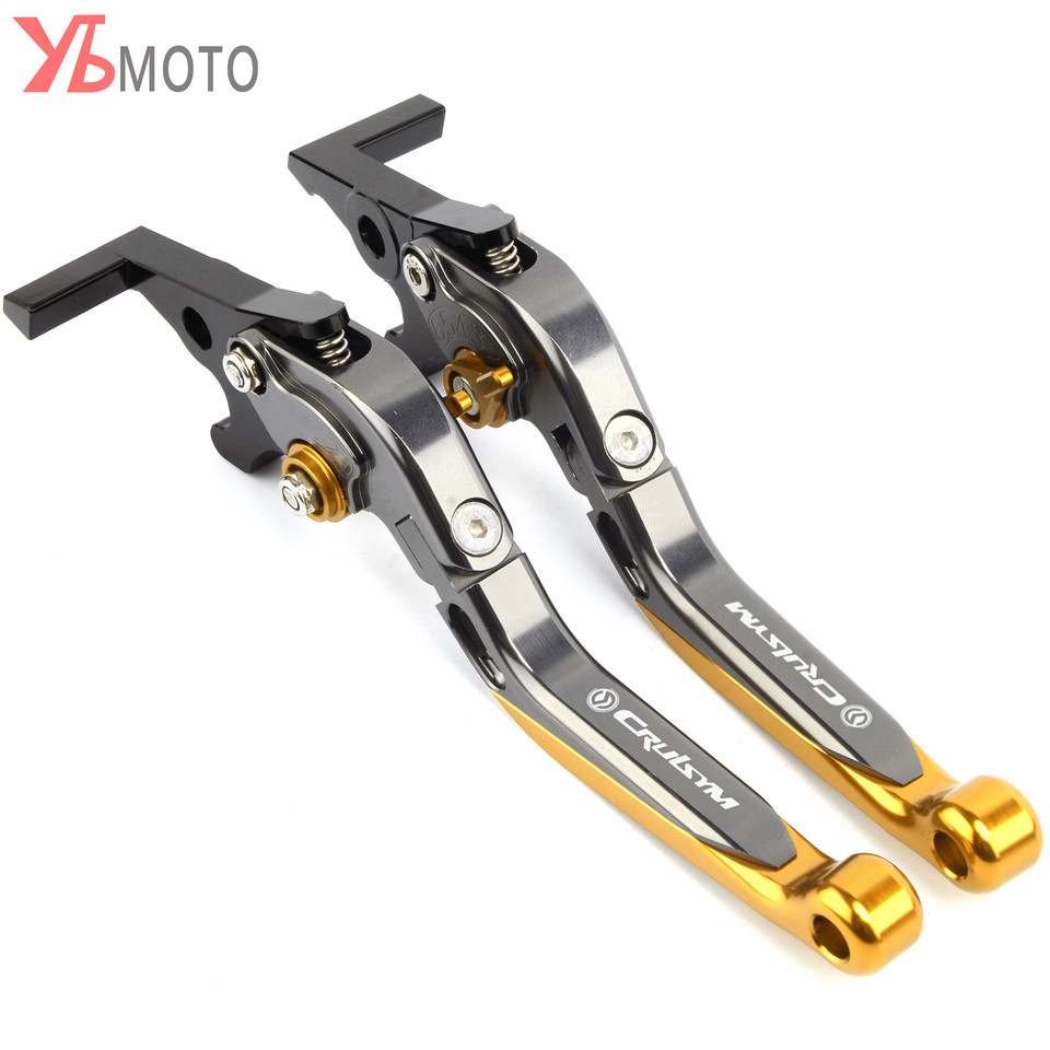 For SYM CRUISYM 300 2017-2018 Flash Deals Motorcycle Folding Extendable Brake Clutch Levers With Laser Logo CRUISYM Red Black цены