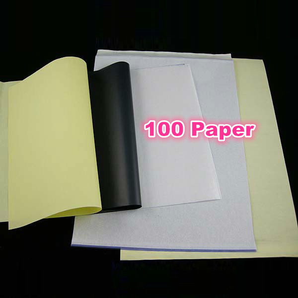 High Quality 100 pcs Tattoo Stencil Transfer Carbon Paper Tattoo Accesories A4 Size 20 pcs high quality 100