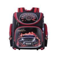 NEW 2016 Cartoon Red Racing School Bag Boys Orthopedic Backpack Children Satchel Elementary School Backpack For