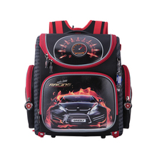 Новый 2016 мультфильм красный гоночный школьная сумка мальчиков ортопедический Рюкзак Дети сумка Начальная школа рюкзак для мальчиков высок...(China (Mainland))