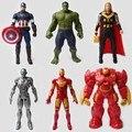 High Quality Marvel Avengers 2 Figures 7 Patterns Anti-Hulk ,hulk Iron Man Captain America Action Figures Model Toys