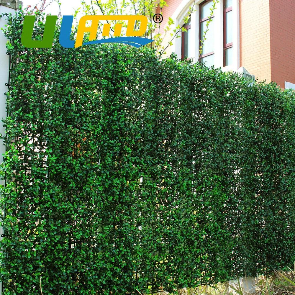 ULAND 인공 긴 회양목 울타리 패널 50x50 센치메터/pc 야외 장식 합성 식물 울타리 아이비 벽