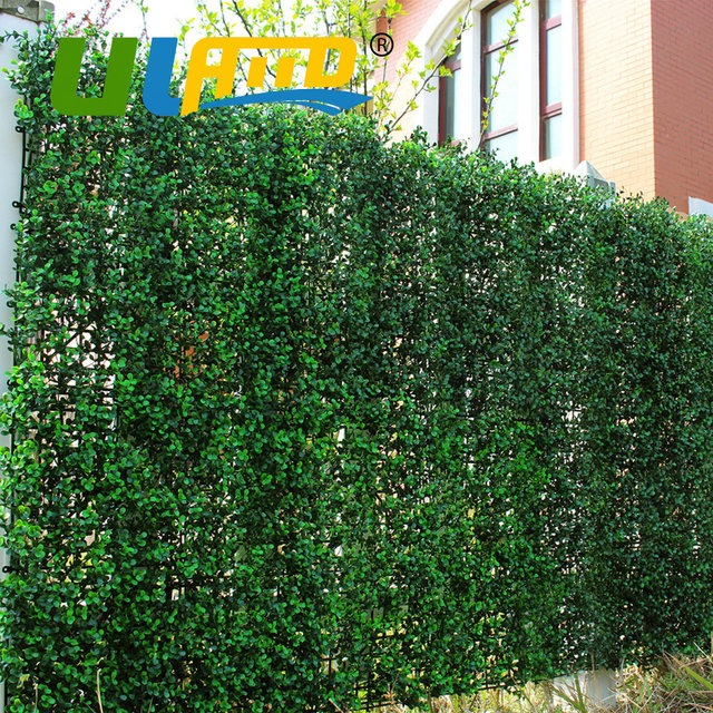 uland artificial long boxwood hedges panels 50x50cm/pc outdoor
