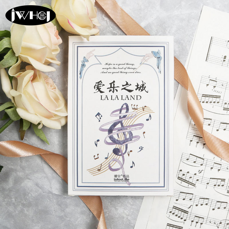 30pcs/lot Music notation Postcard score paper card Valentines Day New Year Greeting Card Birthday Gift Message thanks cards ...