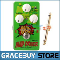 Biyang OD 10 Electric Guitar Baby Boom Mad Drive Overdrive 3 Mode Power Effect Pedal Musical