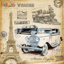 Yeele Photocall Stamp Paris Canada Car Retro Decor Photography Backdrops Personalized Photographic Backgrounds For Photo Studio