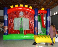 Customized Inflatable Bouncer , Indoor Inflatable , Inflatable Amusement Park bounce house and slide combo