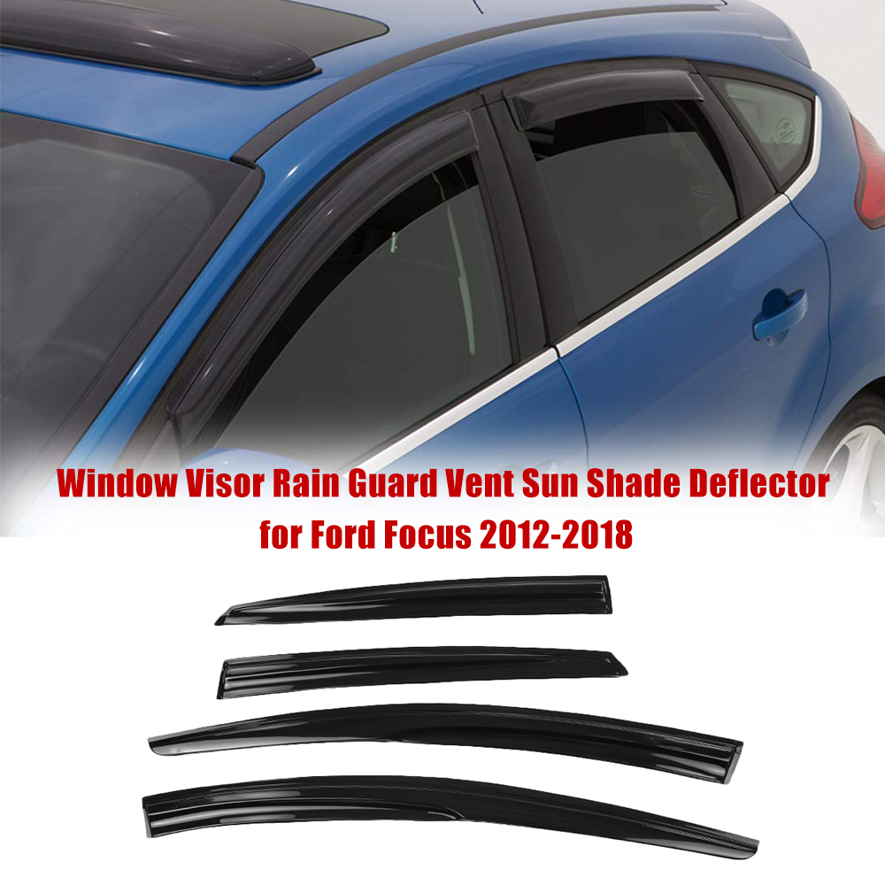 Car Window Visor Rain Guard Vent Sun Shade Deflector for Ford Focus 2012-2018Car Window Visor Rain Guard Vent Sun Shade Deflector for Ford Focus 2012-2018