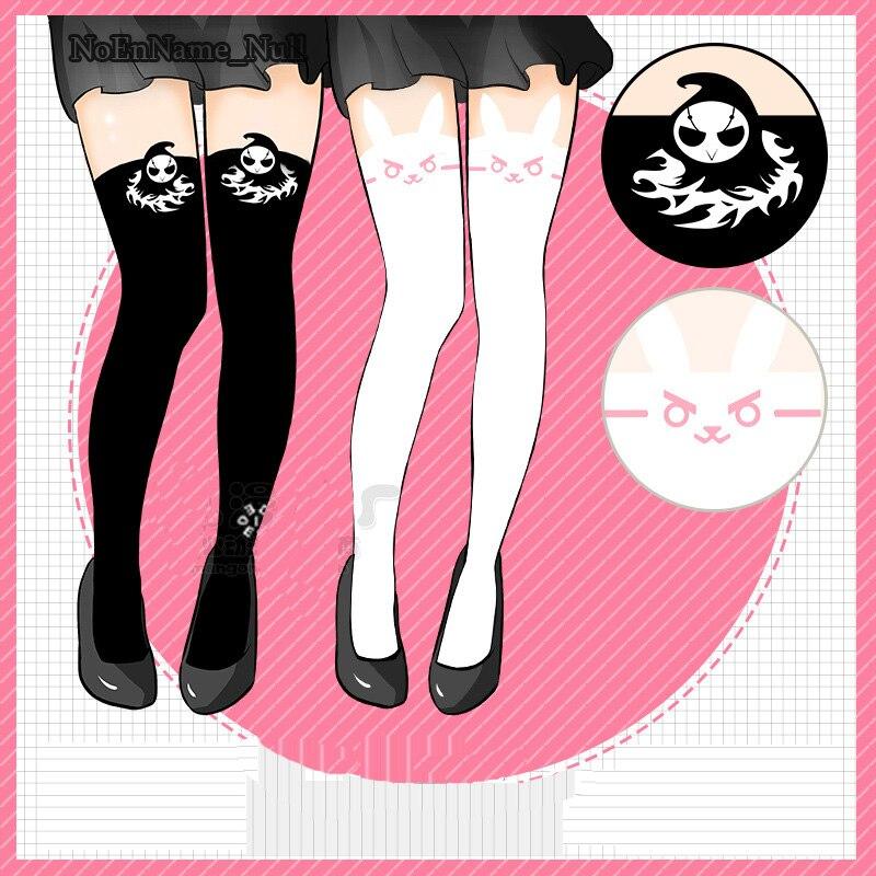 2017 Game Cosplay Stockings D.VA White Socks Girls Women Socks