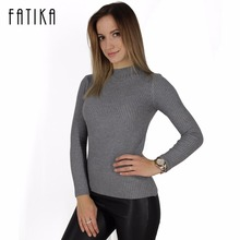 women turtleneck knitted sweater  knitted slim pullover ladies all-match basic thin long sleeve shirt clothing