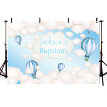 MEHOFOTO Hot Air Balloon Background Holy Communion Blue Sky Cloud Photography Backdrop Photo Studio Party Newborn Photocall allenjoy backgrounds for photography studio blue little boy my first holy communion customize backdrop original design photocall
