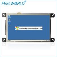 FEELWORLD W759 7 дюймов промышленных встроенных ПК WinCE 6.0 Linux с LAN Порты и разъёмы RJ45 RS232 все в одном открытым Рамки Панель компьютеры