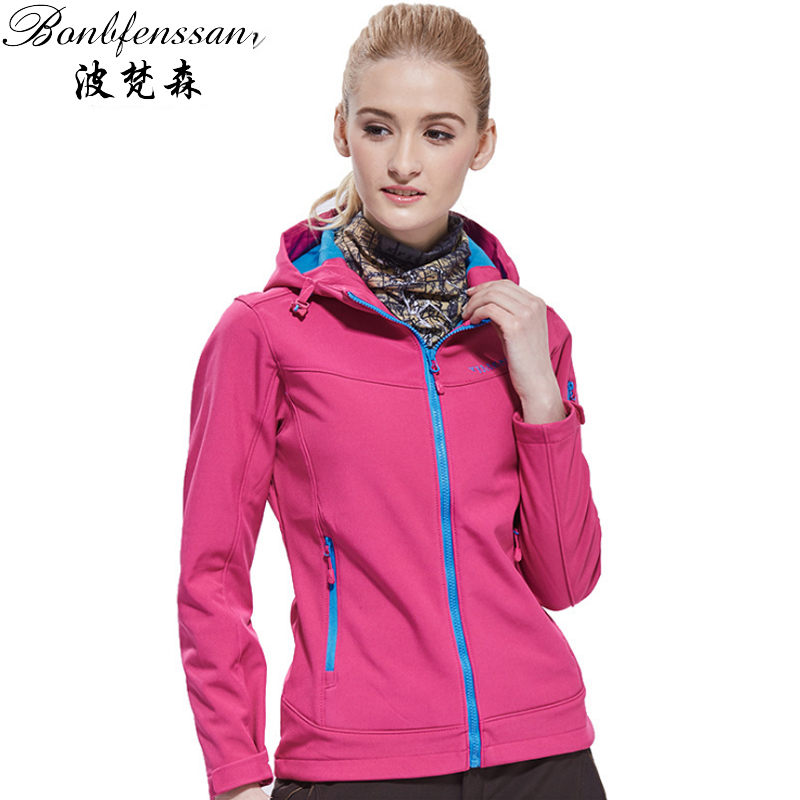 Women Autumn Winter Softshell Fleece Jacket Outdoor Sports Thermal Windbreaker Hiking Camping Fishing Brand Coat 1618B 2017 new brand fleece softshell jacket women outdoor climbing hiking sport jacket women windbreaker thermal waterproof jacket