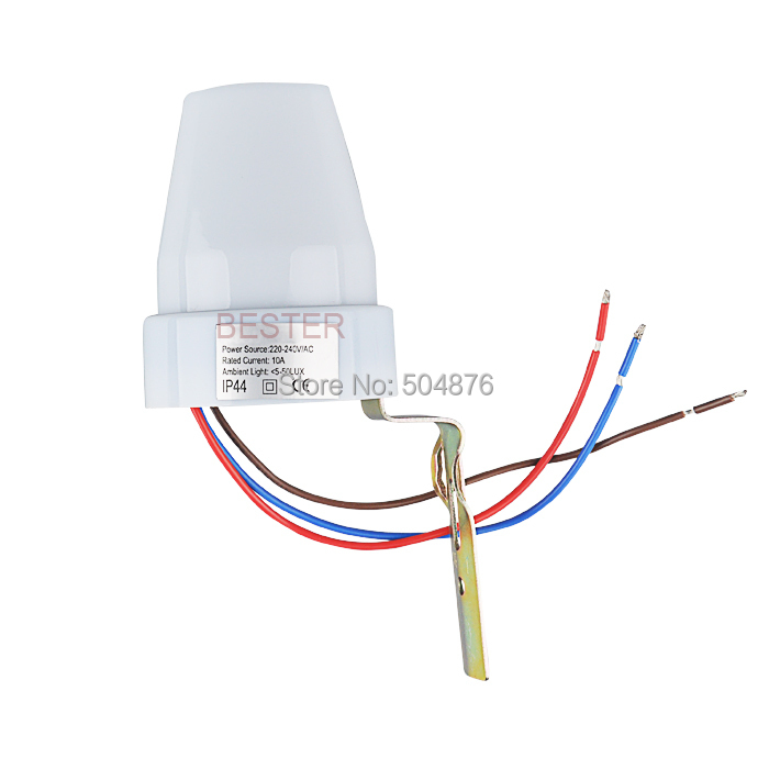 Sensky 220V 240V 10A Outdoor Auto On Off Light sensor Switch photocell sensor light control switch light sensor wiring diagram efcaviation com 220v photocell wiring diagram at suagrazia.org