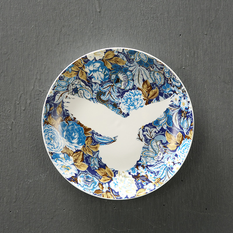 Flower and bird wall hanging plate creative secret garden decorative dish wallpapers molds colorful flying bird hotel bar decor-in Bowls u0026 Plates from Home ... & Flower and bird wall hanging plate creative secret garden decorative ...