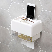 Toilet waterproof tissue boxes non perforated toilet paper box toilet toilet paper holder bobbin cartons