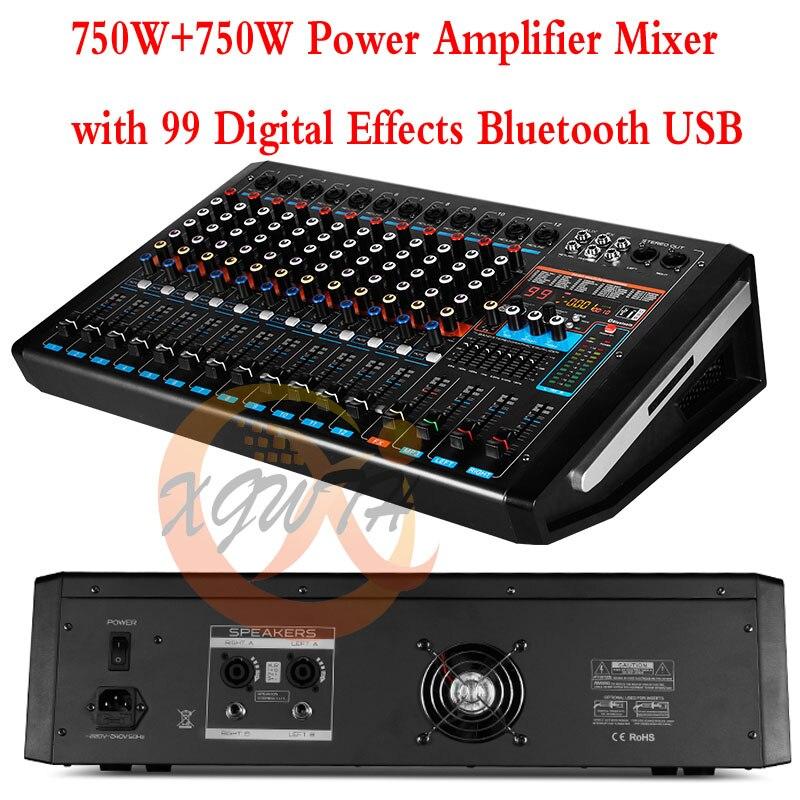 buy 750w 750w dj karaoke 12 channel digital audio sound amplifier mixer with. Black Bedroom Furniture Sets. Home Design Ideas