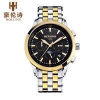 Lüks marka HOLUNS erkek saati otomatik mekanik saatler su geçirmez İş kol saati erkek saatler relogio masculino