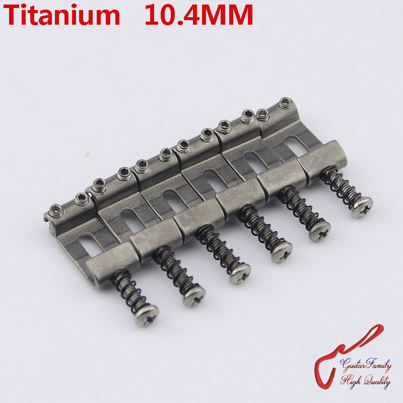 1 Set (6pcs) GuitarFamily Titanium Vintage Bridge Saddle  10.4MM  MADE IN TAIWAN паяльник bao workers in taiwan pd 372 25mm
