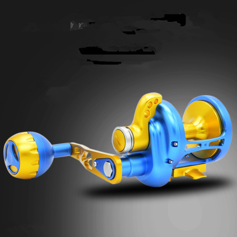 Image 4 - New products TM200 500 CNC All metal Sea fishing Drum wheel 11BB Heavyweight Boat fishing iron plate Slow shake Fishing reel-in Fishing Reels from Sports & Entertainment