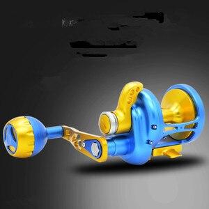 Image 4 - Sản phẩm mới TM200 500 CNC Tất Cả Các kim loại Sea Trống đánh cá bánh xe 11BB Heavyweight Thuyền sắt đánh cá tấm Chậm lắc Fishing reel