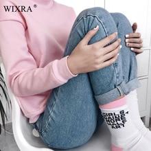 WIXRA Basic Denim Jeans Classic 4 Season Women High Waist Jeans MT