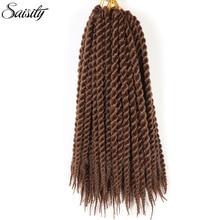 Saisity Гавана mambo твист синтетический афро кудрявый плетение волос крючком косы для наращивания волос дреды Джамбо косы