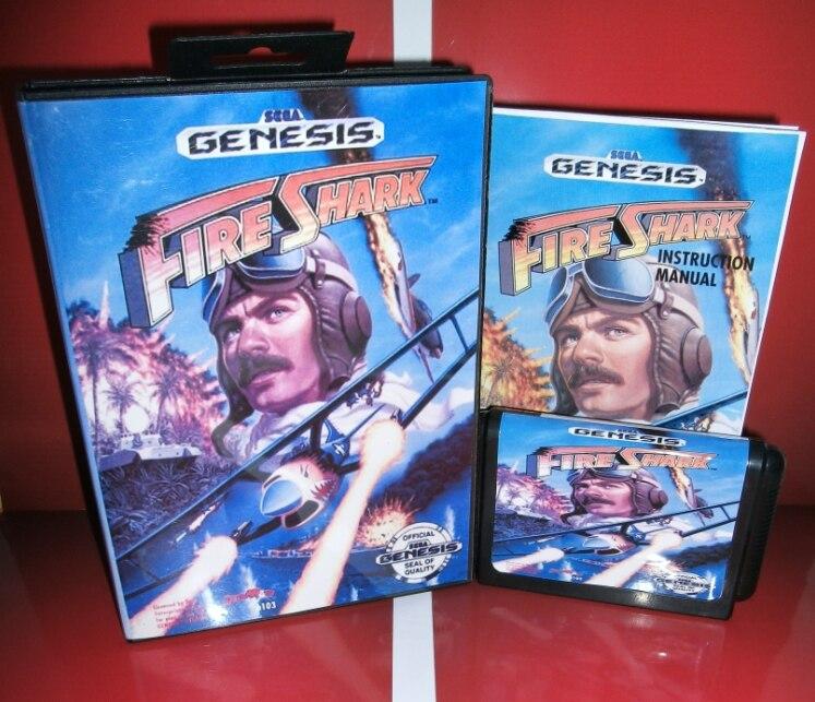 Juegos de Sega tarjeta de Fuego Shark con Caja y Manual para Sega MegaDrive Cons
