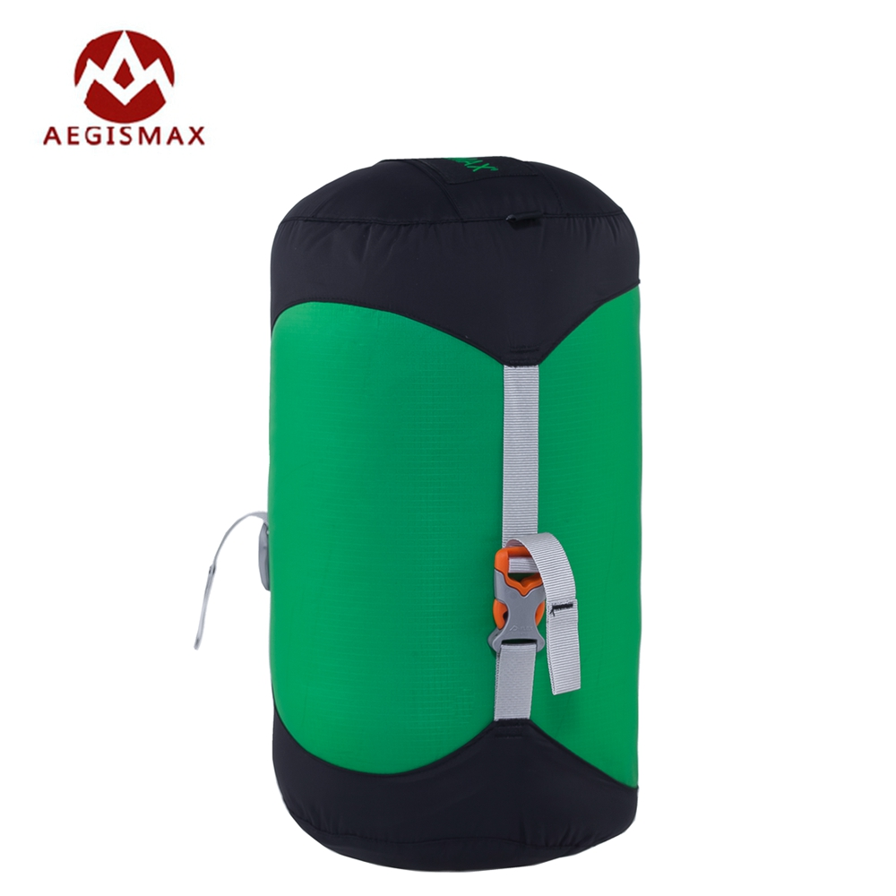 цена Aegismax Outdoor Sleeping Bag Pack Compression Stuff Sack High Quality Storage Carry Bag For Camping Hiking Mountain XS S M L XL онлайн в 2017 году