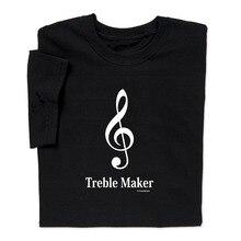China Style Fashion Rock Funny Music T Shirt Treble Maker Clef Geek Nerd Men Tee Men's Shirts Men Clothes Novelty Cool