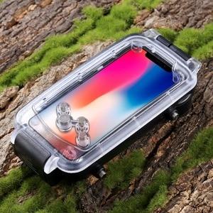 Image 3 - 40M Caso di Immersione Subacquea Per iPhoneXs Max Xr X Impermeabile di Nuoto di Sport Fotografia Borsette Copertura Per iPhone7 8 Più surfriding