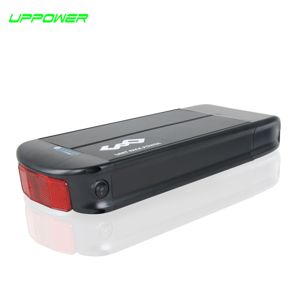 US EU No Tax WithTailight Reflective sheet 36V 20Ah Electric Bike Rack Battery 20.3Ah Lithium Battery for 250W 500W Motor us eu au free tax 36v 20ah lithium battery 500w 36v 20ah triangle shape 10s electric bike battery for bafang bbs01 motor kit