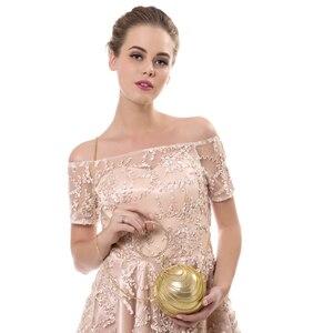 Image 5 - SEKUSA Circular Tassel Rhinestones Women Evening Bags With Handle Diamonds Metal Handbags For Wedding/Party/Dinner Evening Bags