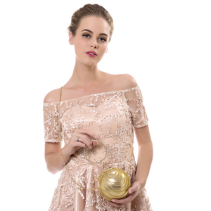 Image 5 - Sekusa円形タッセルラインストーンの女性のイブニングバッグとハンドルのダイヤモンド金属ハンドバッグ結婚式/パーティー/ディナーイブニングバッグ