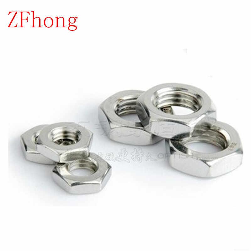 20//60//100pcs M2 M3 M4 M5 M6 Nylon Insert Self-Lock Aluminum Nuts Hex Lock Nut US