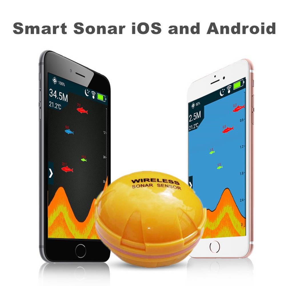 Многофункциональный Smart Портативный Рыболокаторы подледной рыбалки эхолот для смартфонов Планшеты iOS Android B2Cshop