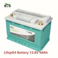 BLS литиевая 12 В 60AH lifepo4 батарея BMS 4S 12,8 В 900CAA для автомобильный стартер RV инвертор для лодки монитор RV + 10A зарядное устройство