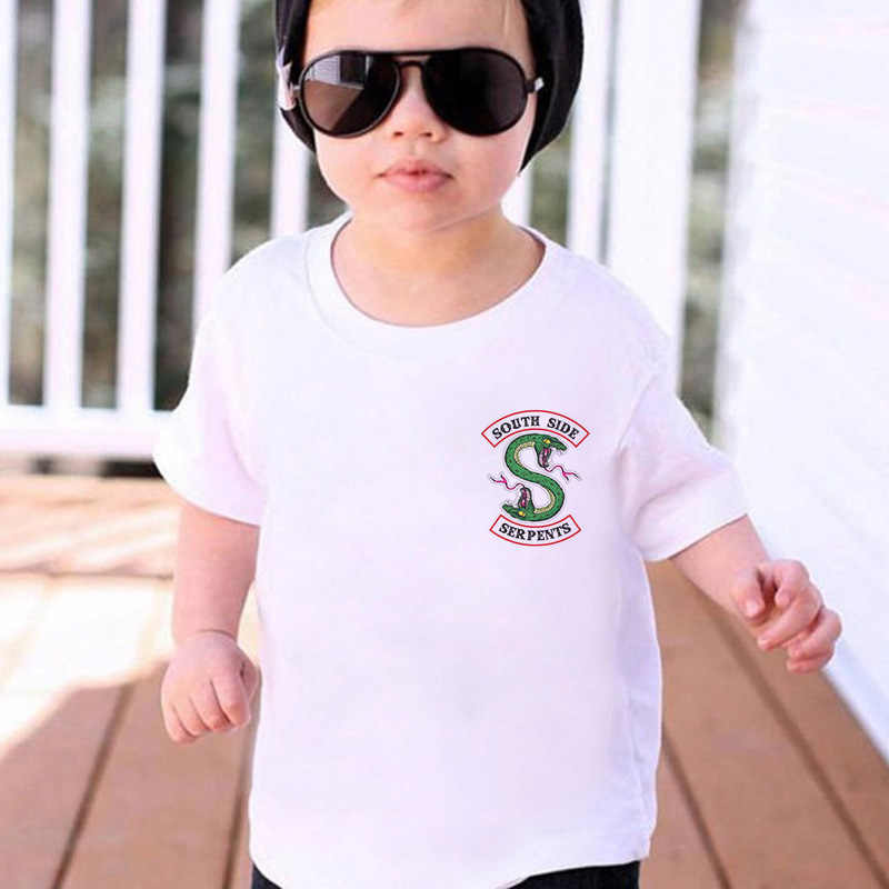 Fashion streewear Boy T Shirts Riverdale South Side Serpents Animal Print Harajuku funny Tshirt Girl Vintage White Baby T Shirts