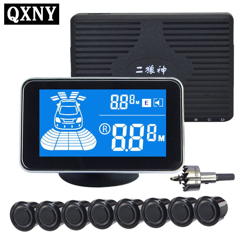 Auto LCD Parking Sensor Kit Backlight Display Assistance Blind Spot Detection Sound Alert Indicator Sonde Systeem Gratis Verzending