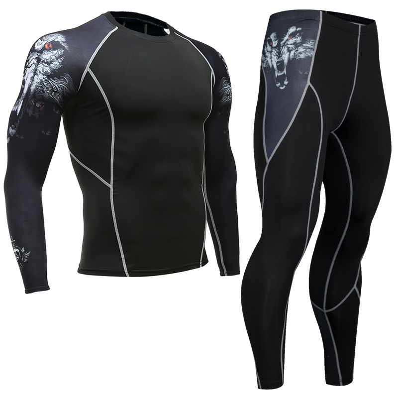 Newest-Fitness-Compression-Sets-Jerseys-Men-3D-Printed-MMA-Crossfit-Muscle-Shirt-Leggings-Base-Layer-Tights