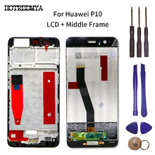 LCD Display Touch Screen Digitizer Assembly For Huawei P10 VTR-L09 VTR-L10 VTR-L29 5.1 inch LCD Touch Screen With Frame original 4 inch complete lcd for garmin monterra topo gps navigator lcd screen display with touch screen digitizer assembly