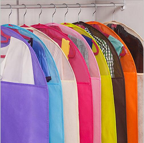 2pc Non Woven Garment Bag Coat Cover Suit Bag Travel Clothes Cover Wedding Dress Cover Dress Bag Home Organization Storage in Clothing Covers from Home Garden