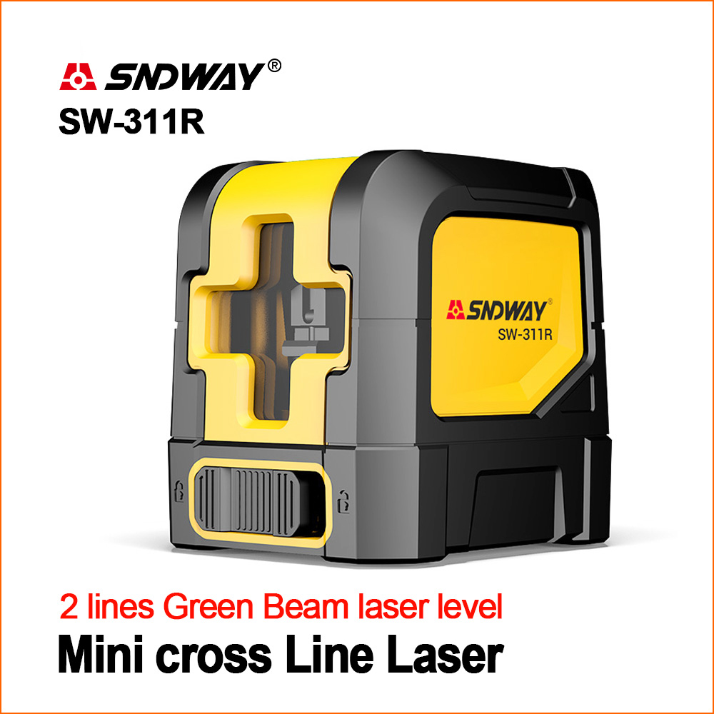 SNDWAY Laser Levels Green Laser Level Self Leveling Vertical Horizontal Lasers Cross Measure Tool SW 311G