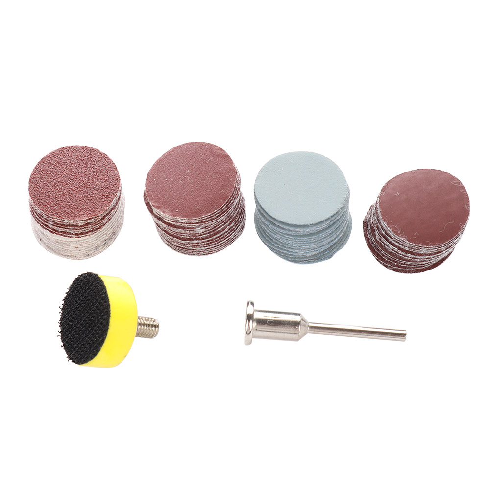 100pc 100-3000 Grit Sander Disc Sanding Disk Sand Paper With 20mm Abrasives Hook & Loop Backer Plate For Polishing Cleaning Tool