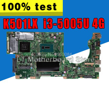 K501LX GTX950M для ASUS K501L K501LB K501LN A501L материнская плата с i3-5005U 4G Оперативная память встроенная видеокарта DDR3 USB3.0 S-4