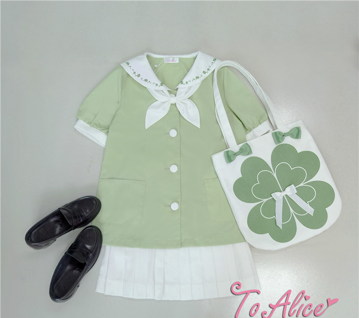 Princess sweet lolita bag To Alice Original cute lovable lucky clover large capacity canvas Satchel fashion and adorable BAG221