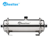 Wheelton 304 Stainless Steel Water Filter Ultrafiltration Water Purifier,380L,Commercial Home Kitchen Drink Straight UF Filters