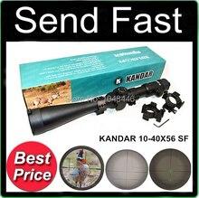 Caza 10-40X56SF KANDAR Profesional 35mm de Diámetro de Tubo de Grado Militar Mira Long Rifle Scope con los Montajes Libres